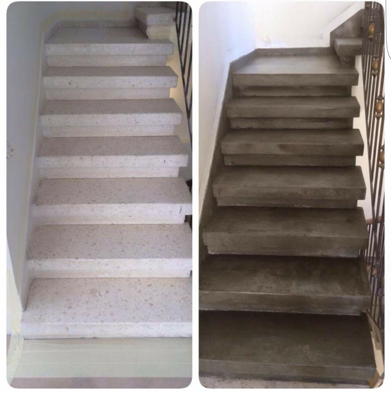 ציפוי מדרגות בבטון הדריכאלי מוחלק